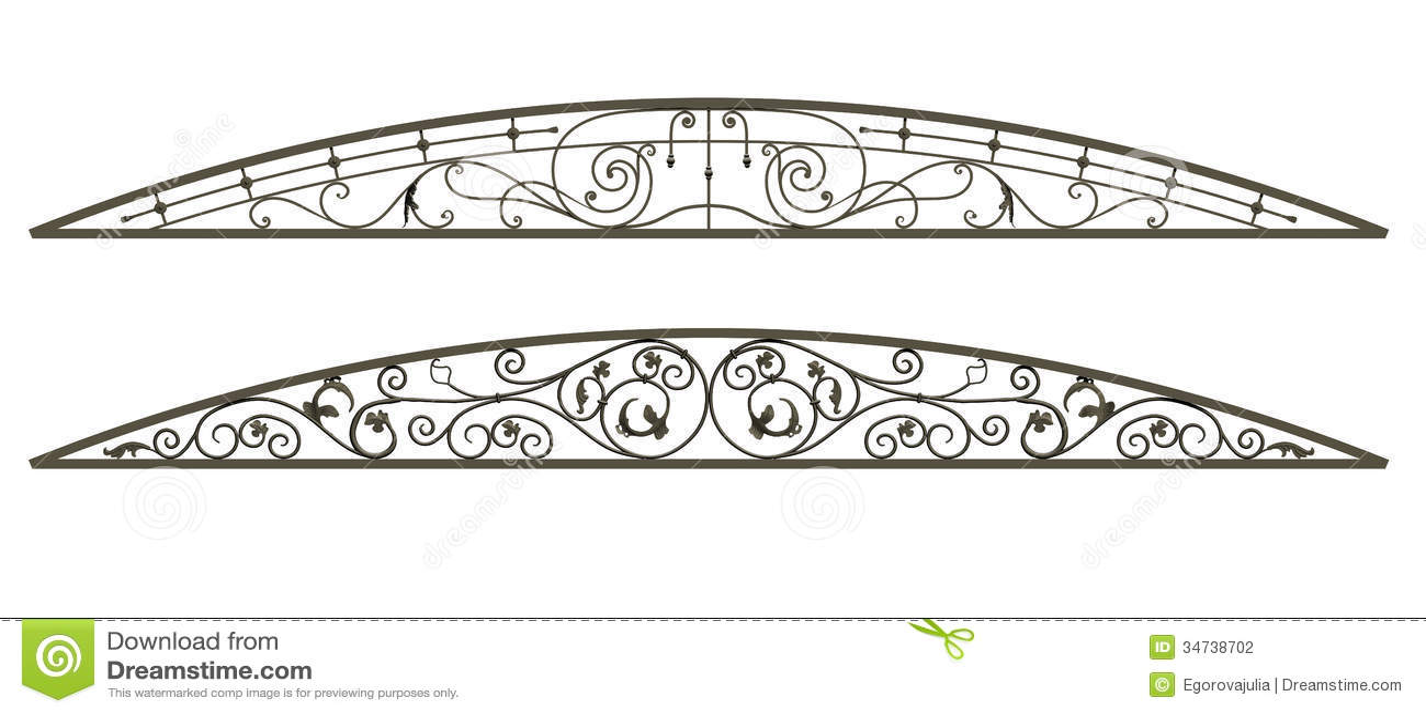Royalty-Free Stock Photo  sc 1 st  Dreamstime.com & Wrought iron canopy stock illustration. Illustration of design ...