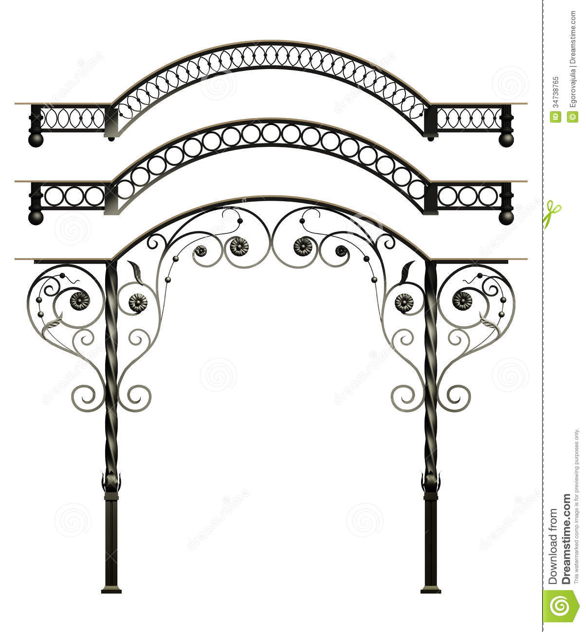 Wrought Iron Canopy Stock Illustration Image Of Canopy
