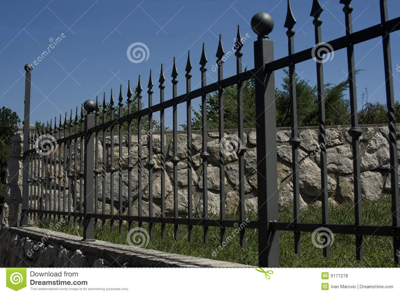 Wrought Iron Fence Royalty Free Stock Photos - Image: 6171278