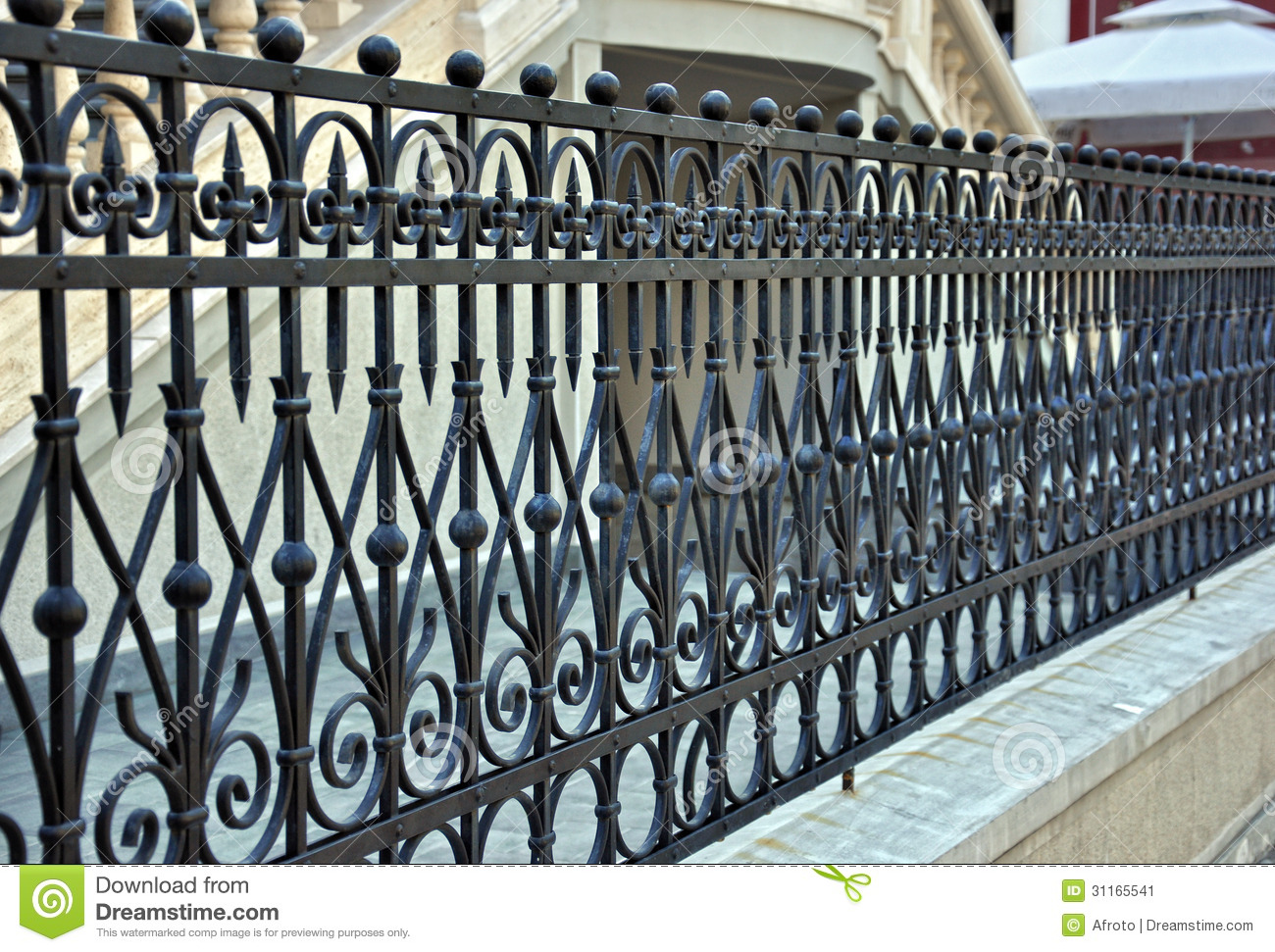 Custom House Plans For Sale Wrought Iron Fence Stock Image Image 31165541