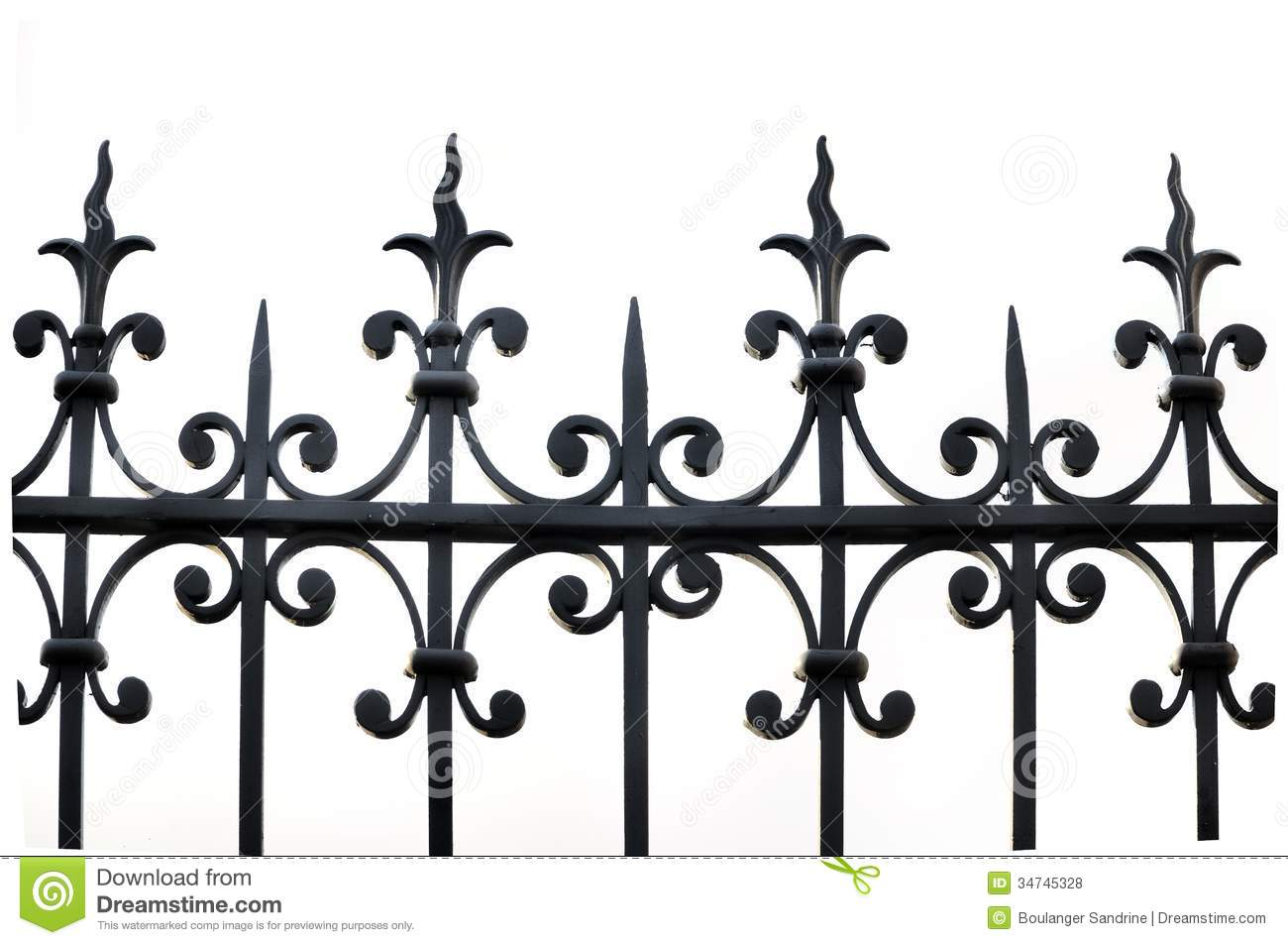 Wrought Iron Fence Stock Photo Image Of Fence Close