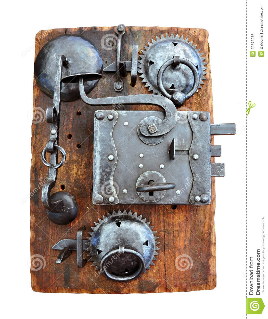 Wrought iron fittings royalty free stock image