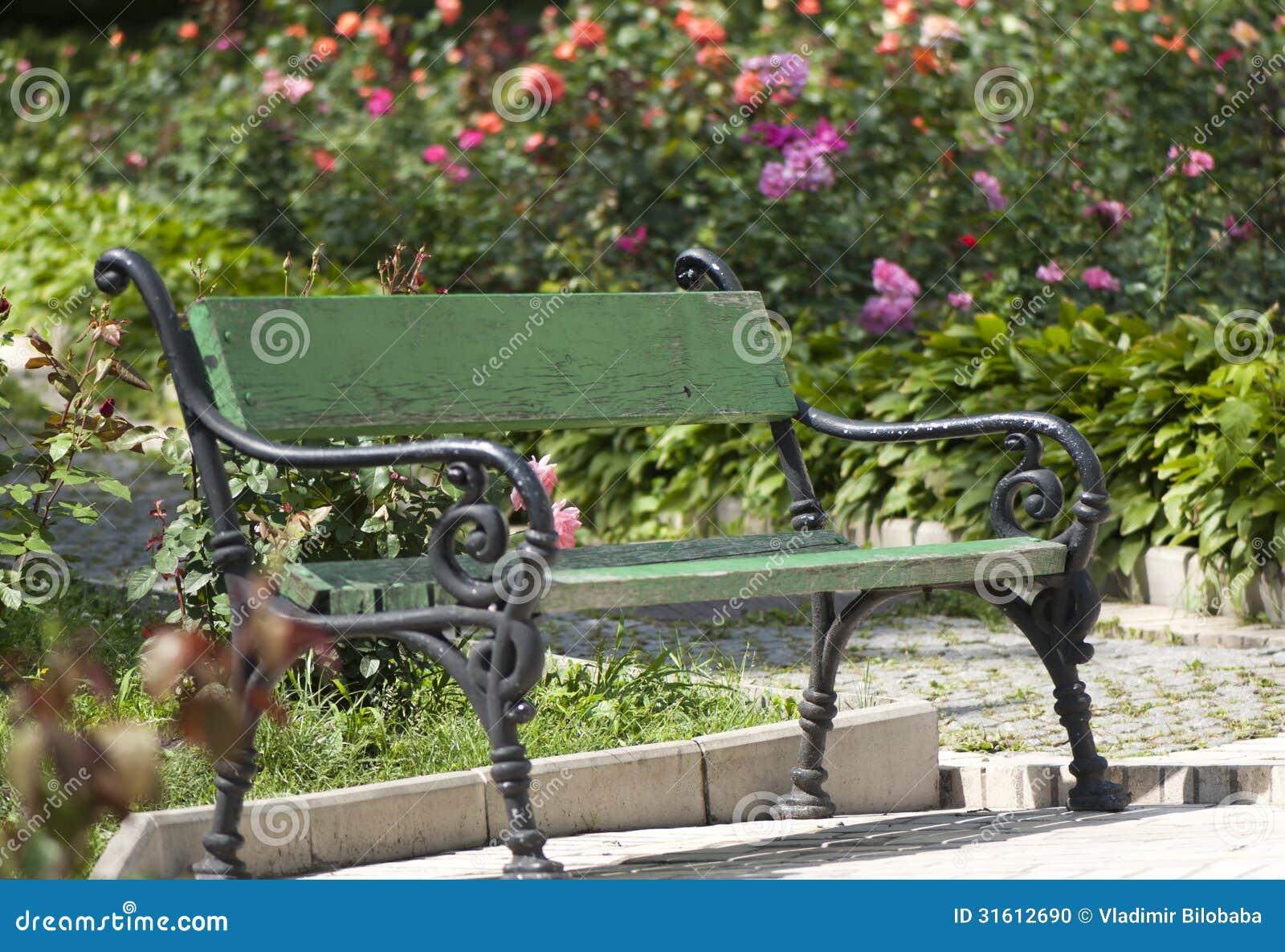 Astonishing Wrought Iron Garden Bench Stock Photo Image Of Bench 31612690 Machost Co Dining Chair Design Ideas Machostcouk