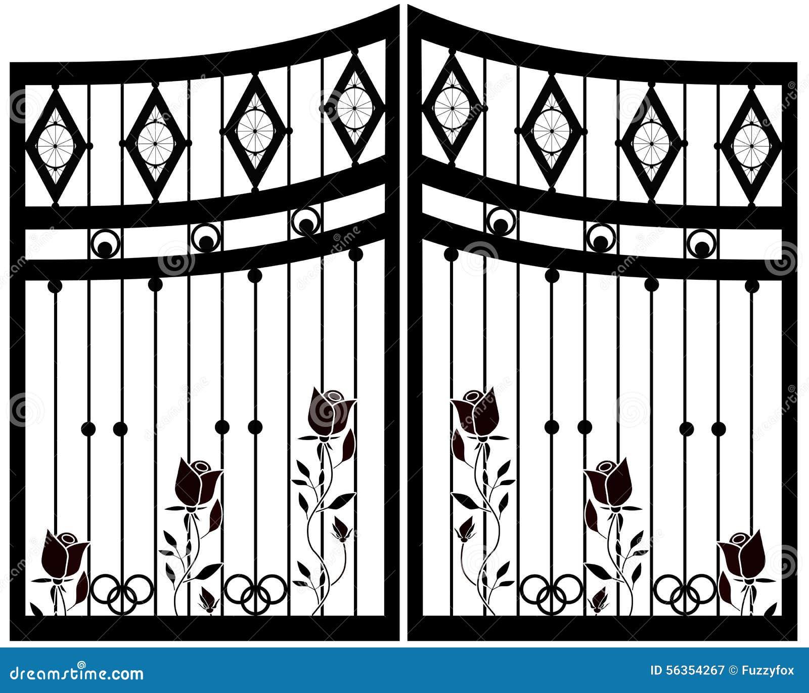 wallpaper iron fence - photo #24