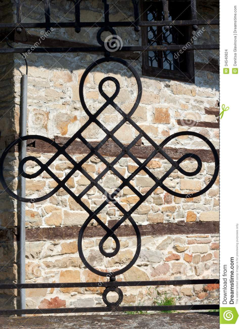 Wrought iron ornament stock photo image of background