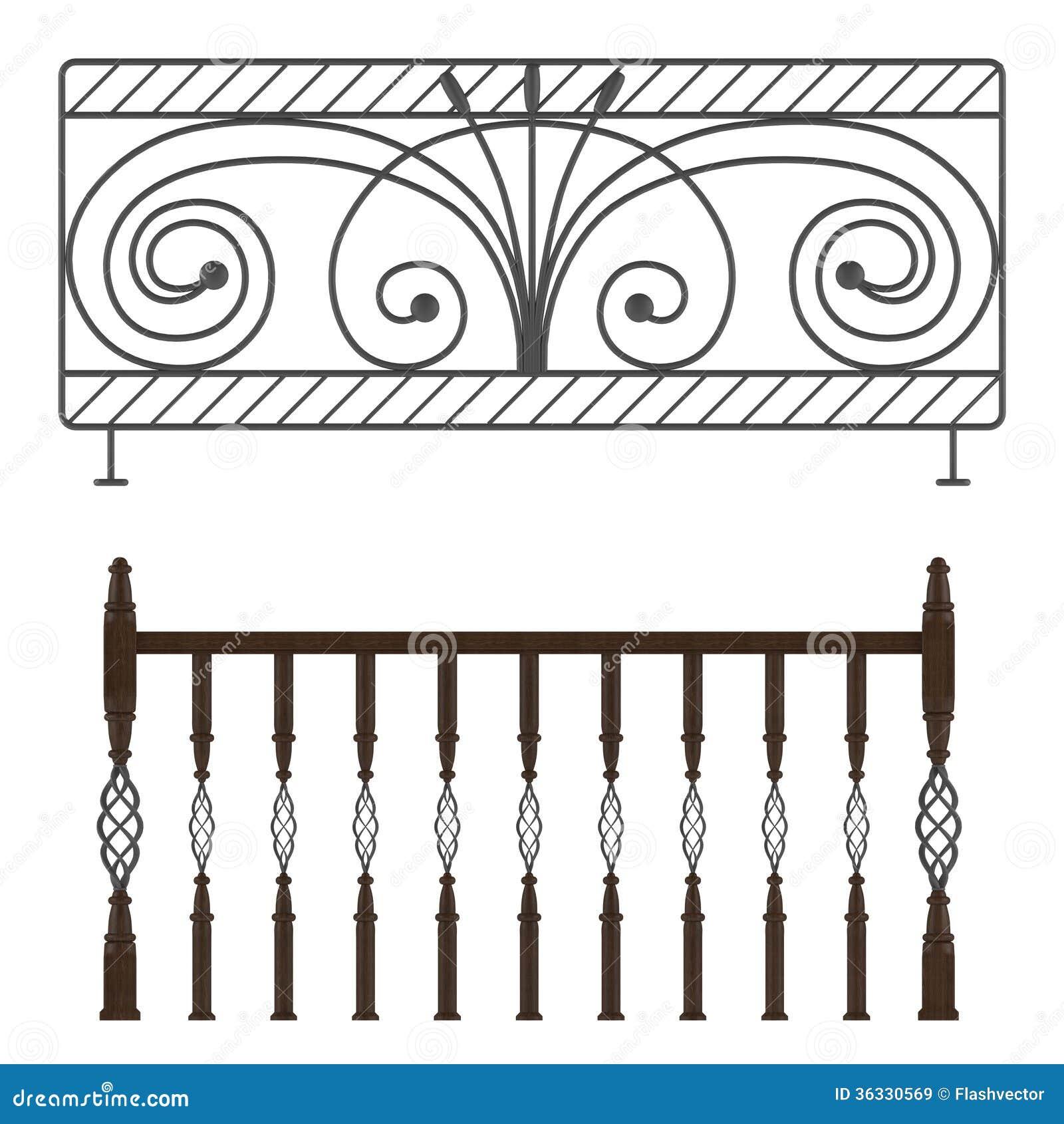 Wrought iron railings stock illustration image of work - Verjas de hierro ...