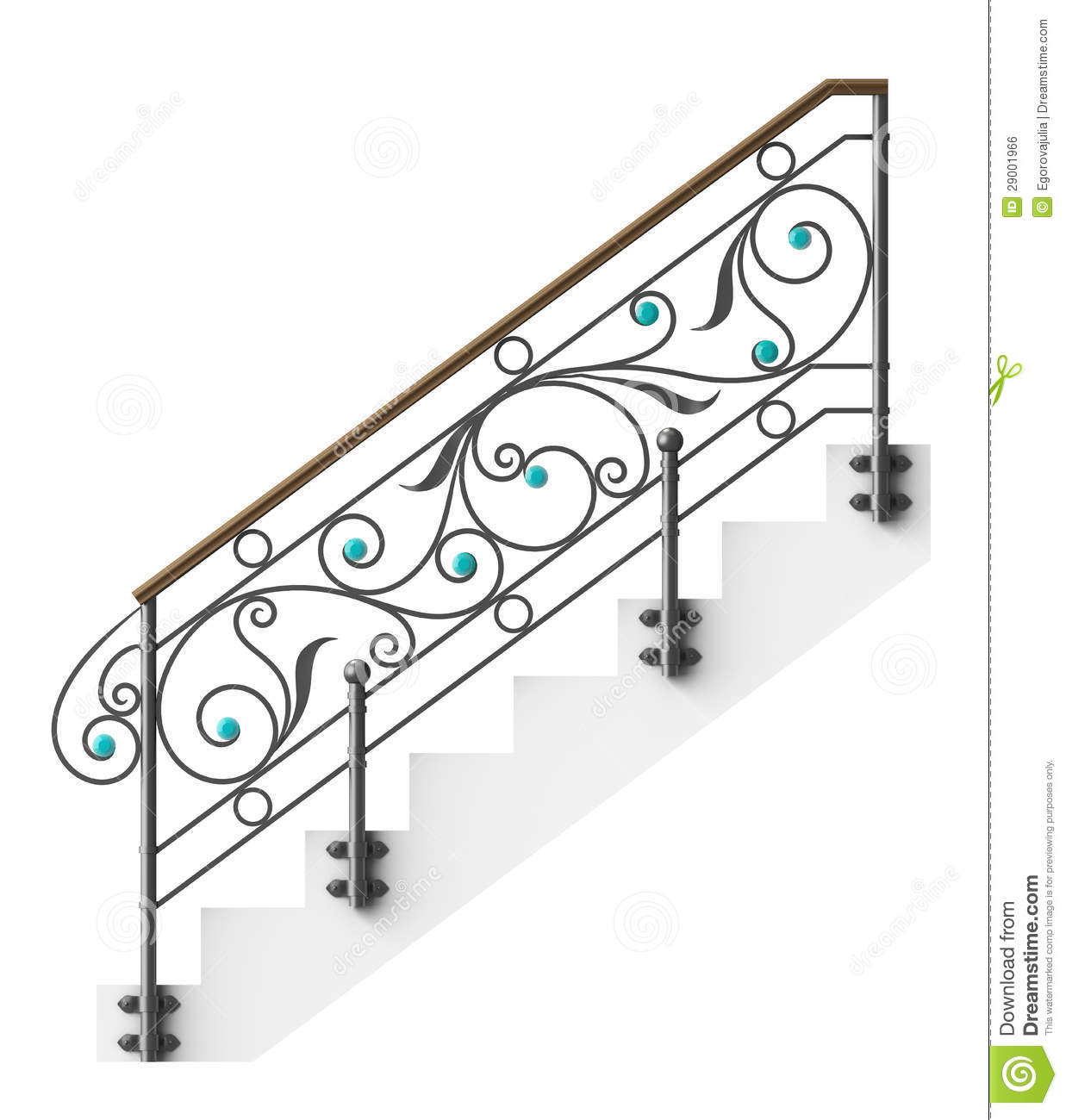 wrought iron stairs railing stock photo illustration of cast rh dreamstime com