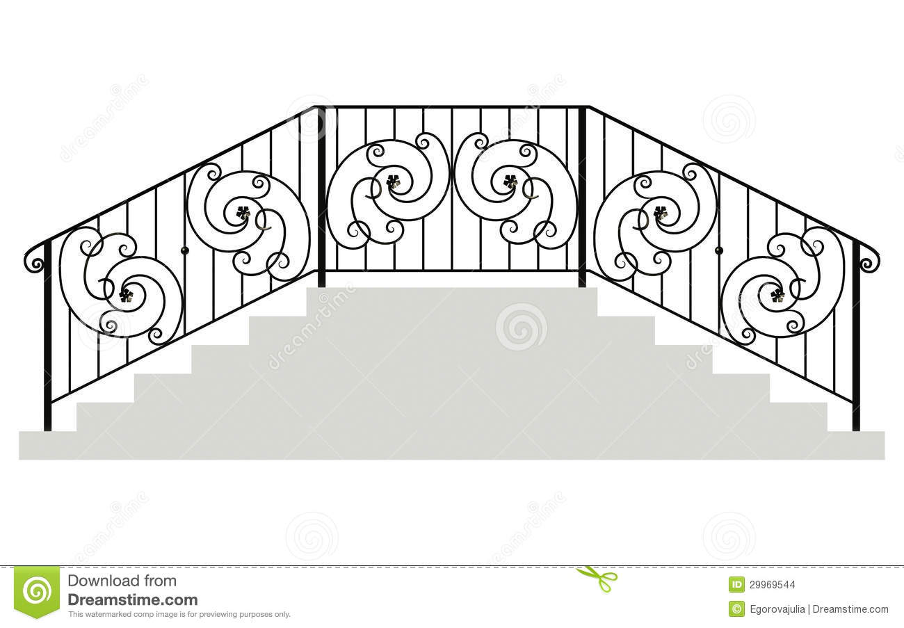 Wrought iron stairs railing stock photo illustration of