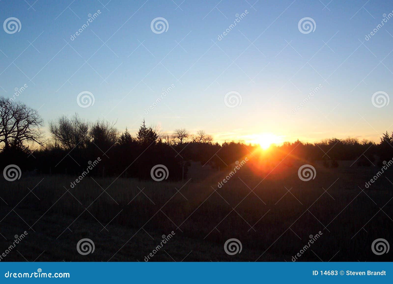 Wschód słońca w nebrasce