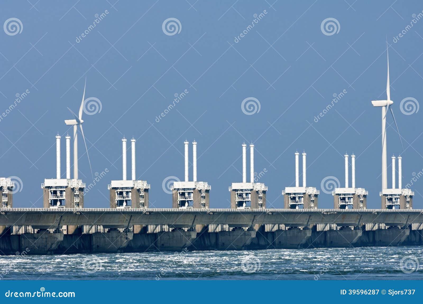 Wschodnia Scheldt burzy przypływu bariera, holandie
