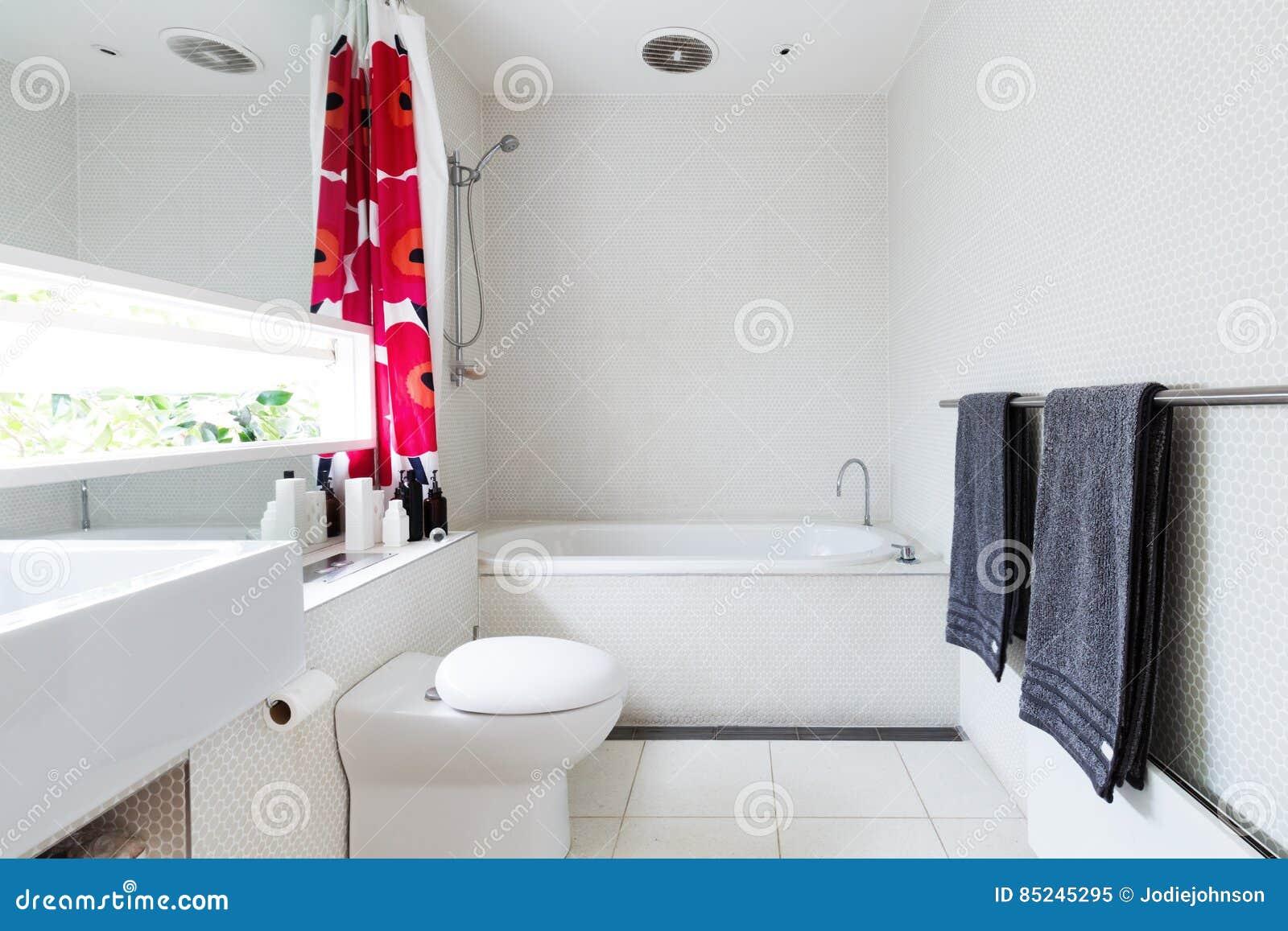 Współczesna Biała łazienka Mozaiki I Lastryka Płytki Z