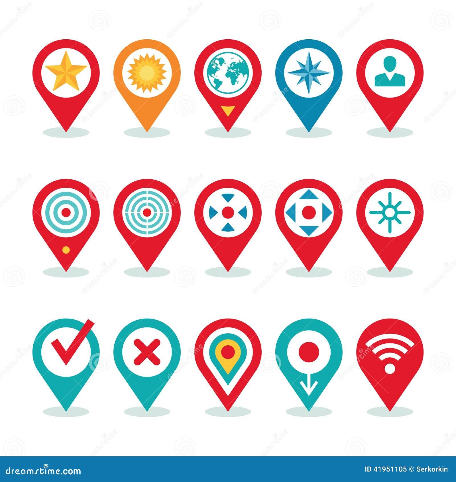 Współczesnego Światu zastosowanie nawigacja symbole - lokacj ikon kolekcja -