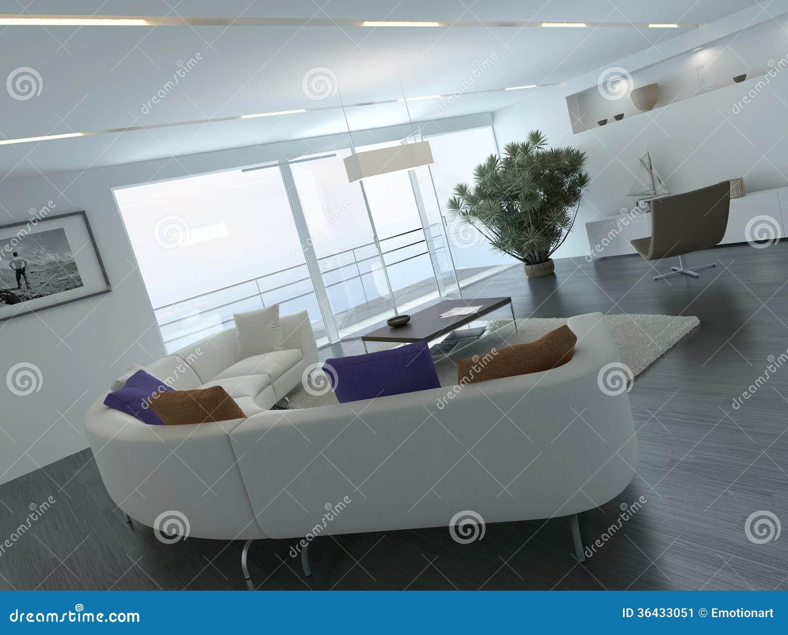 Współczesny żywy izbowy loft wnętrze