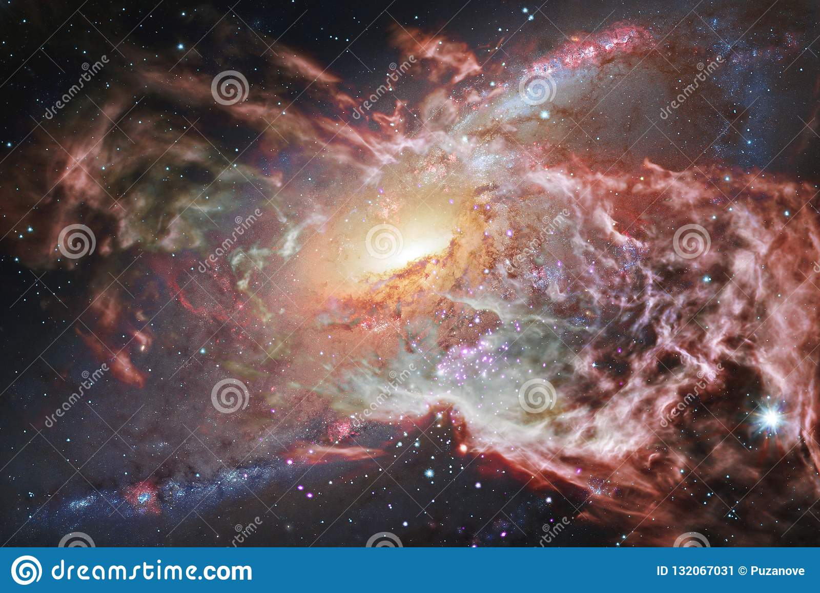 Wspaniały galaxy w kosmosie Starfields niekończący się kosmos