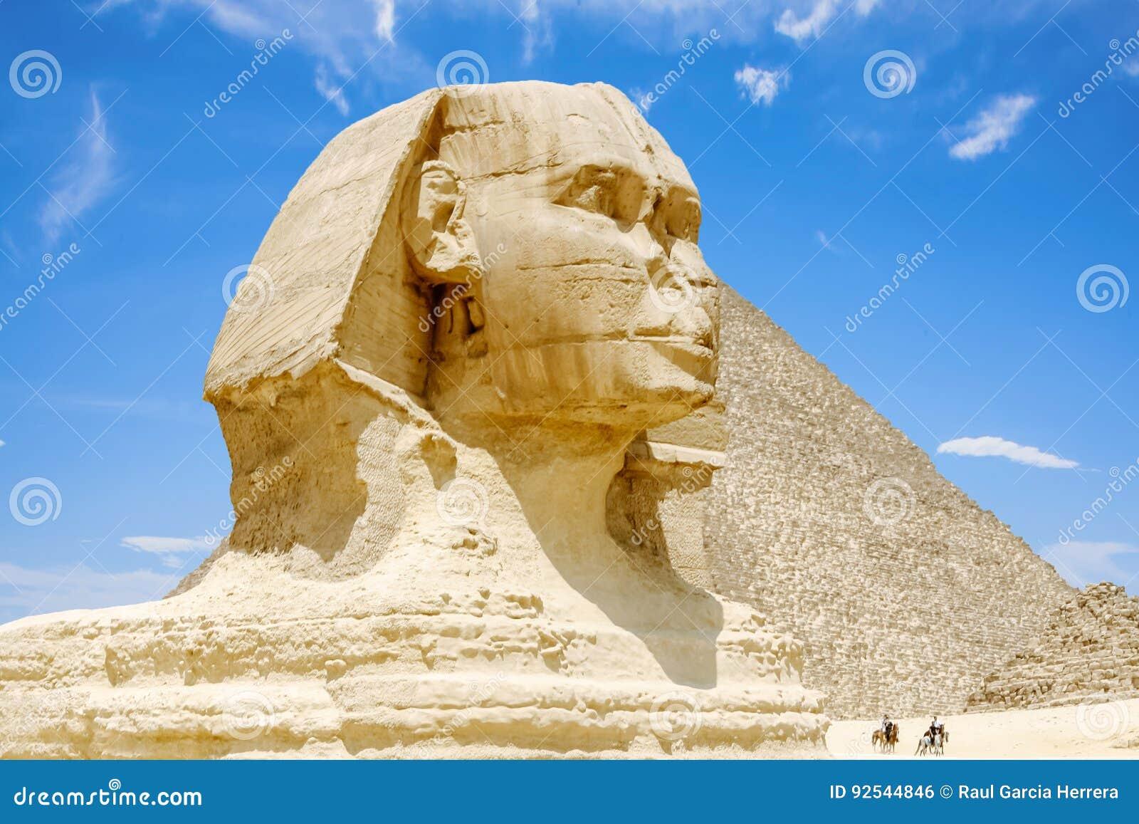 Wspaniały gizy sfinks Egipt