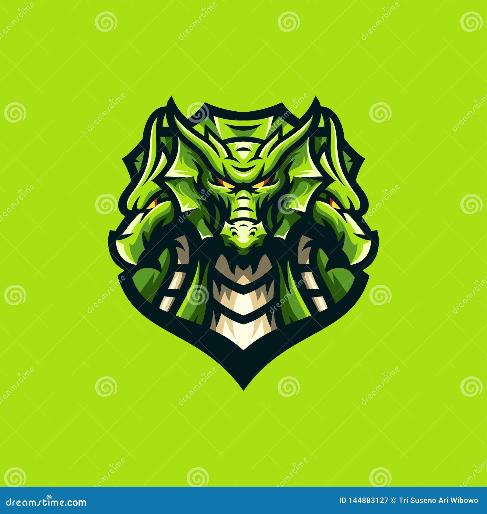 Wspaniały smoka logo sporta szablon