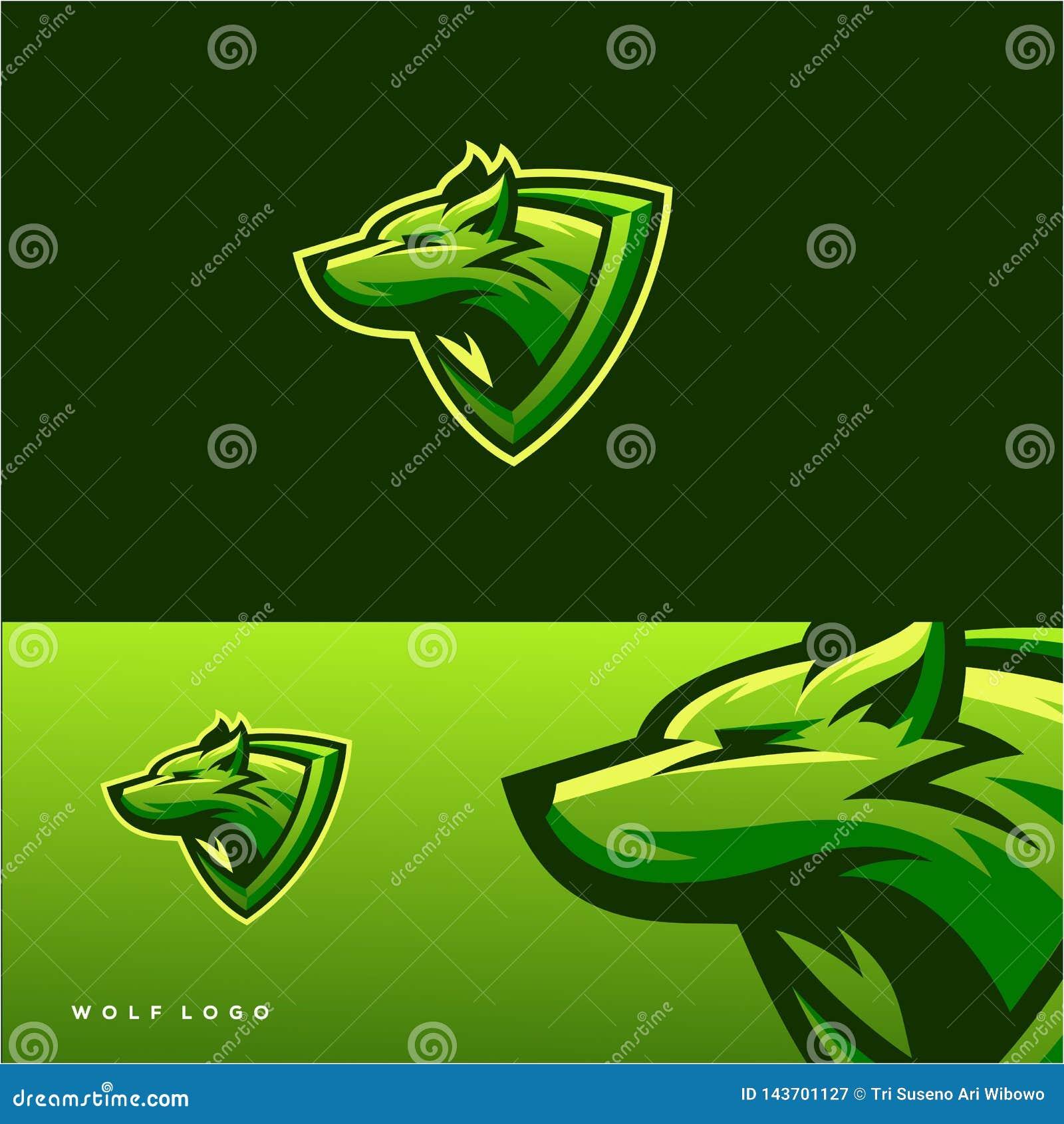 Wspaniały wilczy logo projekt