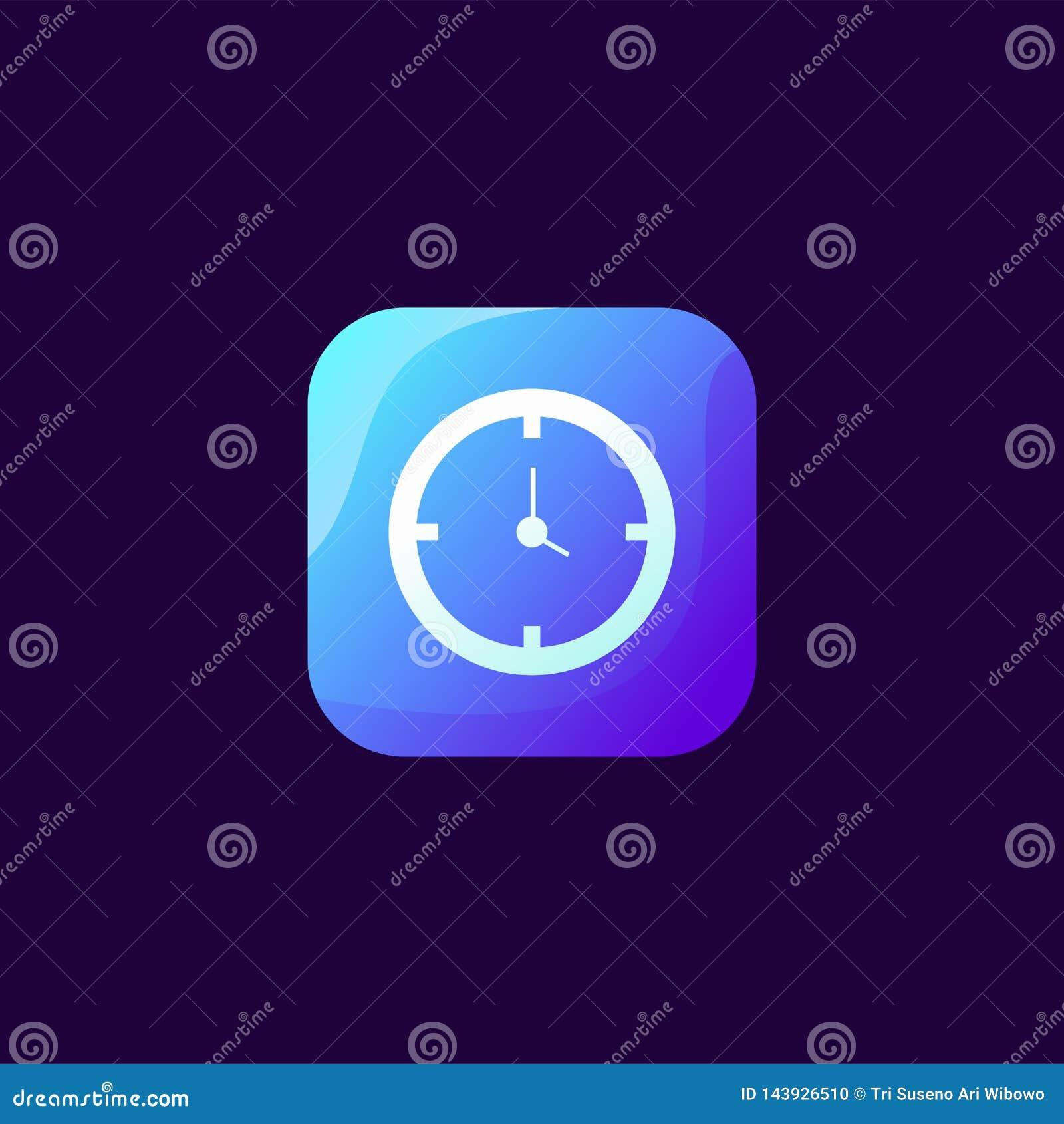 Wspaniały zegarowy ikona projekt gotowy używać