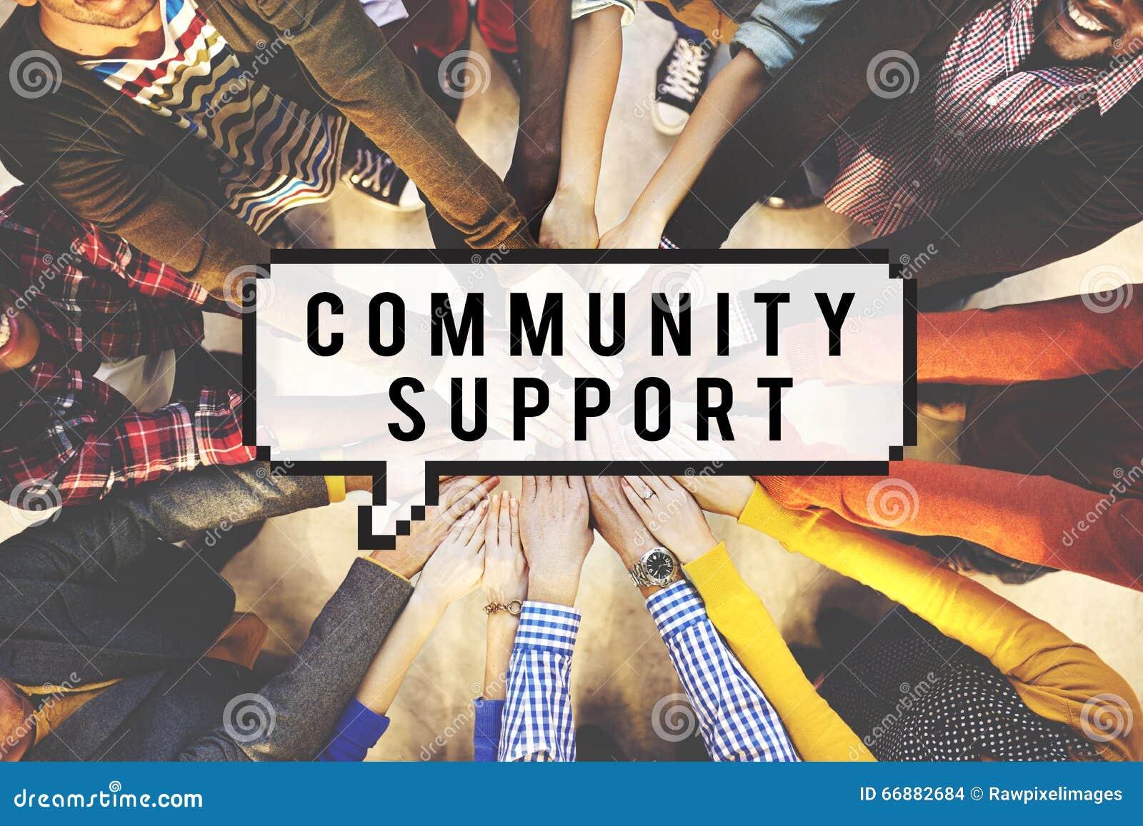 Wsparcie Społeczności więzi społeczeństwa Podłączeniowy pojęcie