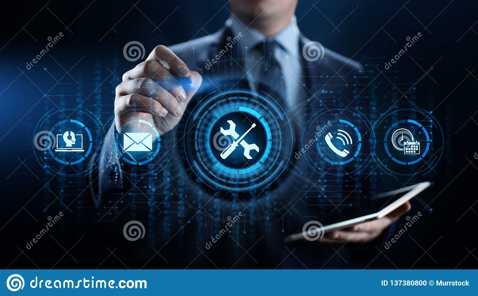 Wspiera 24 7 obsługi klientej zapewnienia jakości technologii Biznesowego pojęcia