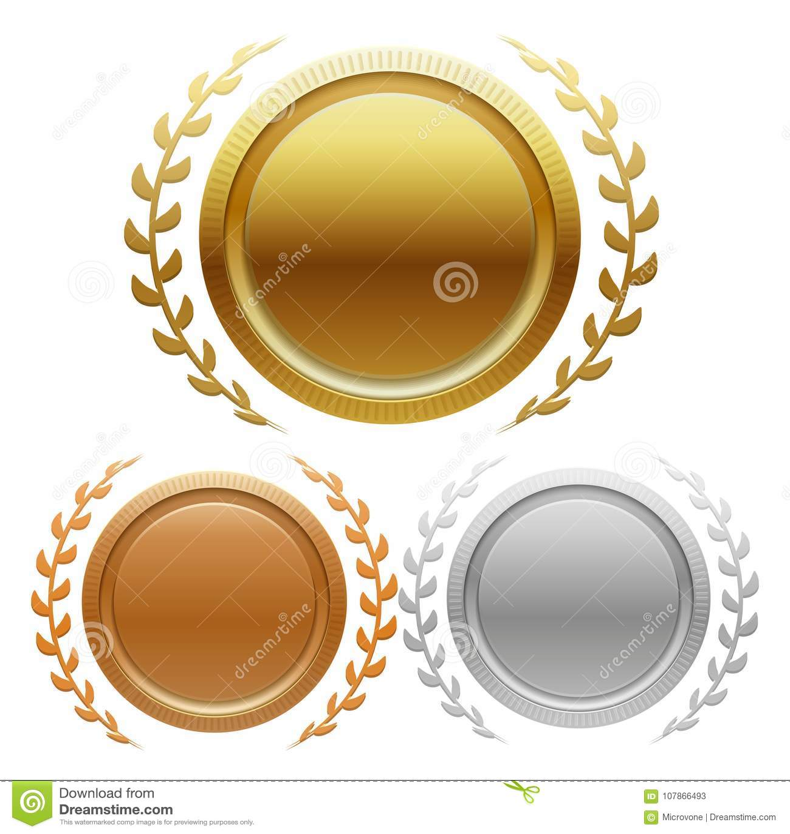 Wstawia się złota, srebra i brązu nagrody medale,