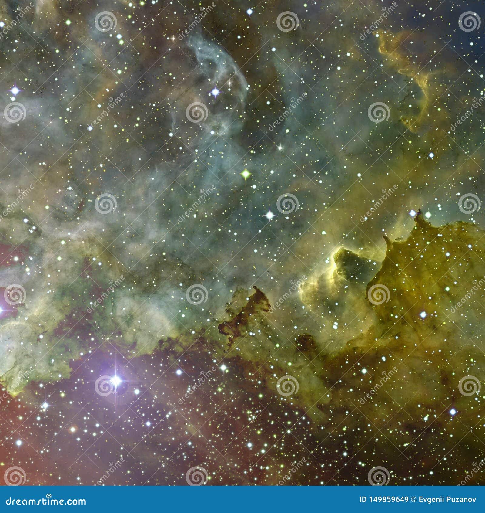 Wszechrzecza scena z planetami, gwiazdami i galaxies w kosmosie,