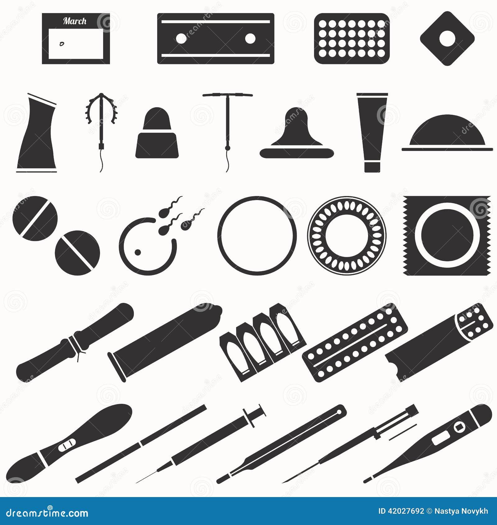 Wszystkie nowożytne antykoncepcj metody i typ ikony