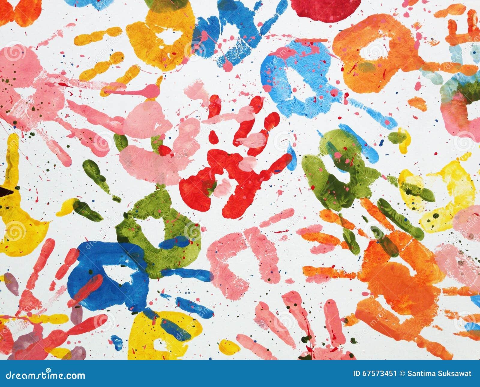 Wszystkie ręka koloru abstrakta tła