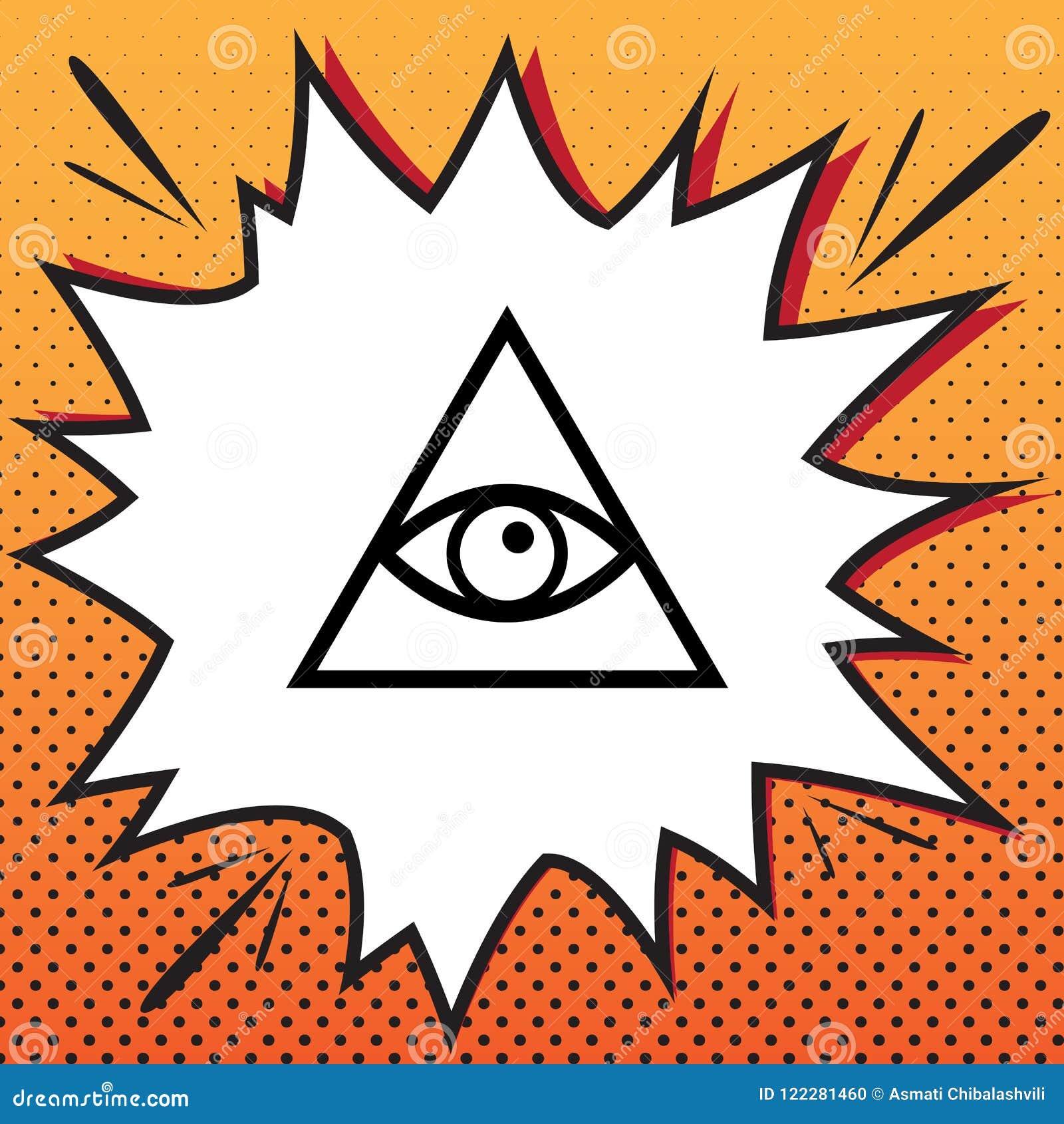 Wszystkie widzii oko ostrosłupa symbol Farmazon i sprawy duchowe wektor