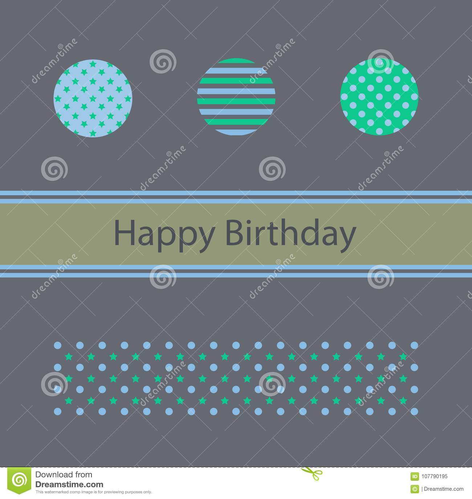 Wszystkiego najlepszego z okazji urodzin karta, minimalistyczny projekt
