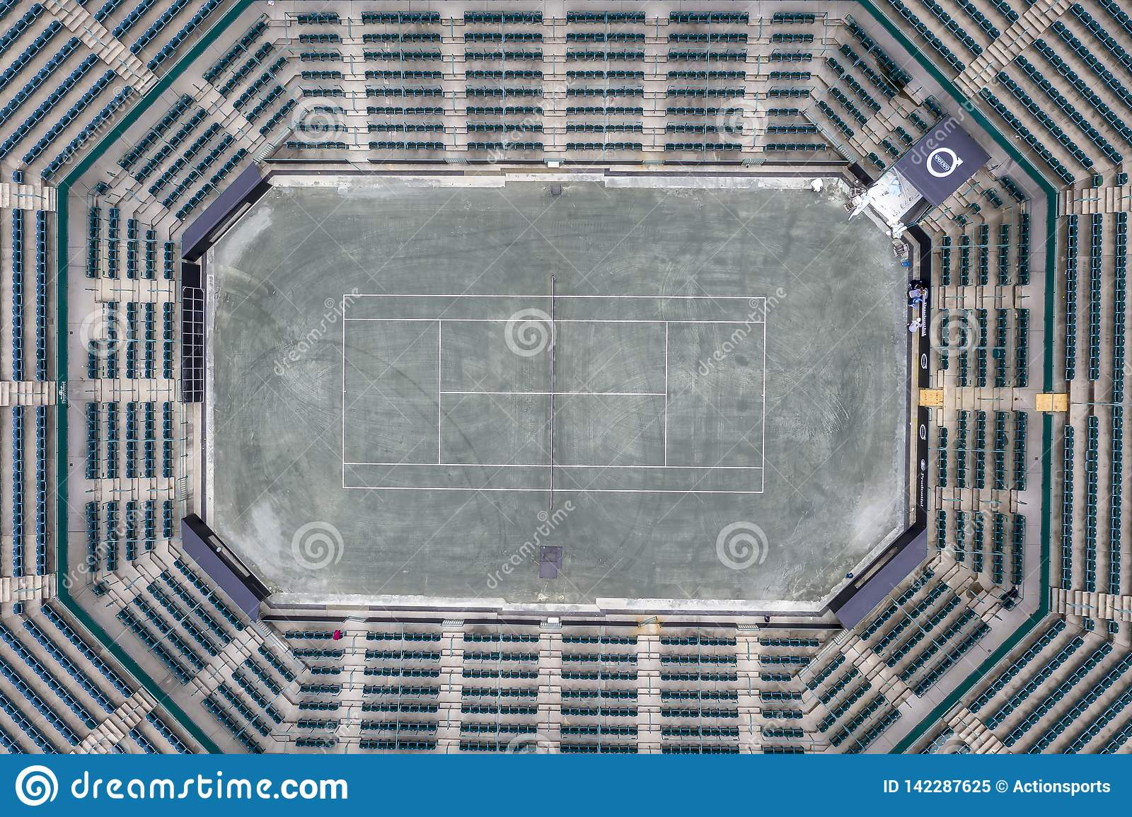 WTA: March 16 Aerial Views Of The Volvo Car Open Main Stadium
