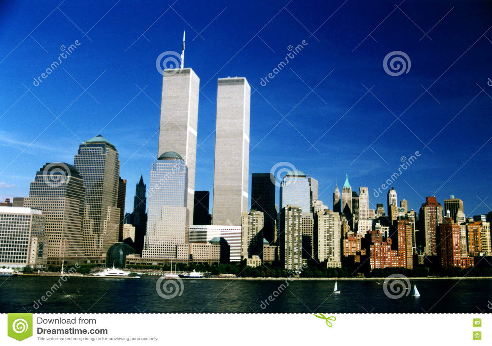 WTC双塔在纽约,美国