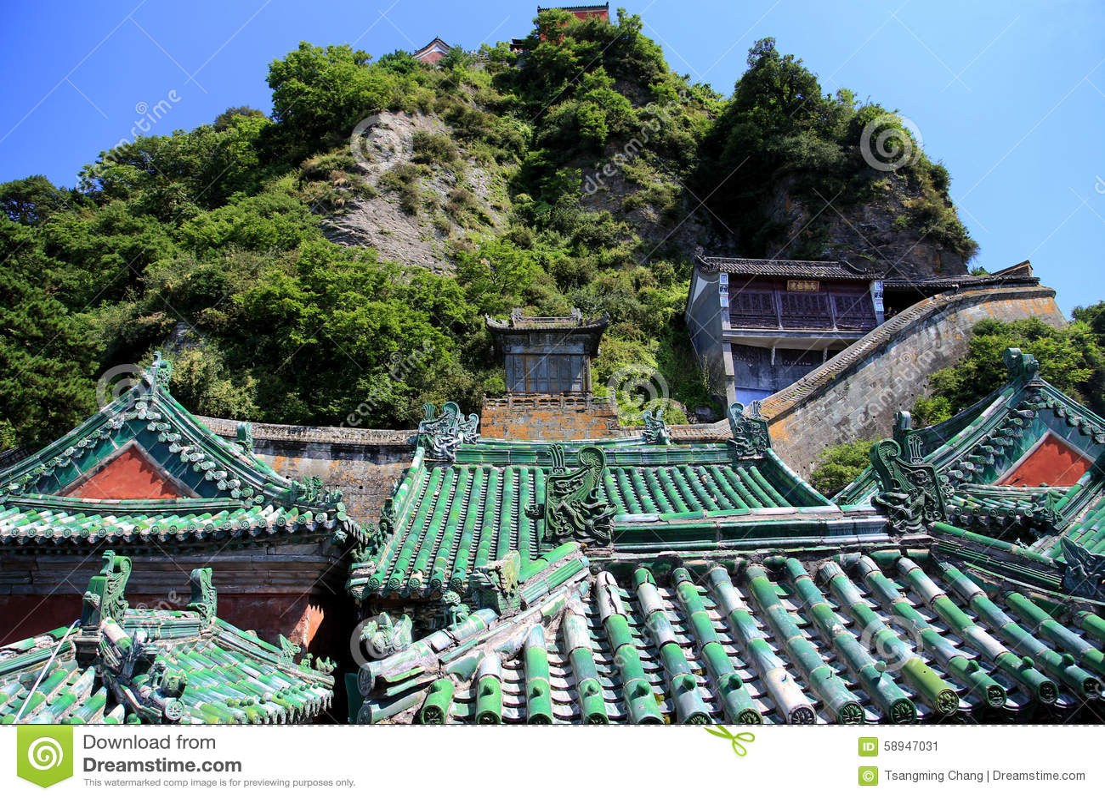 Wudangberg, een beroemd Taoist Heilig Land in China