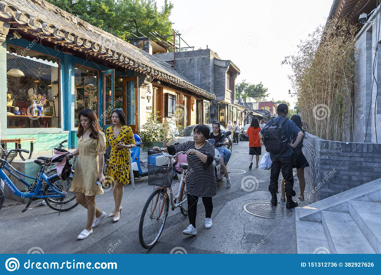 Wudaoying Hutong在北京,中国,是其中一商业hutongs在北京
