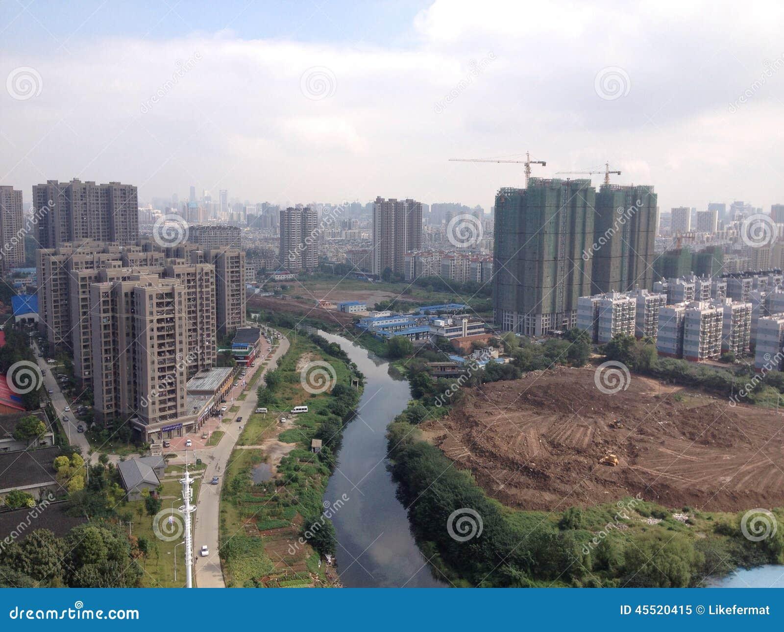 Wuhan city skyline
