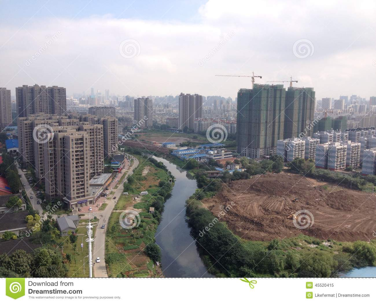 Wuhan stadshorisont