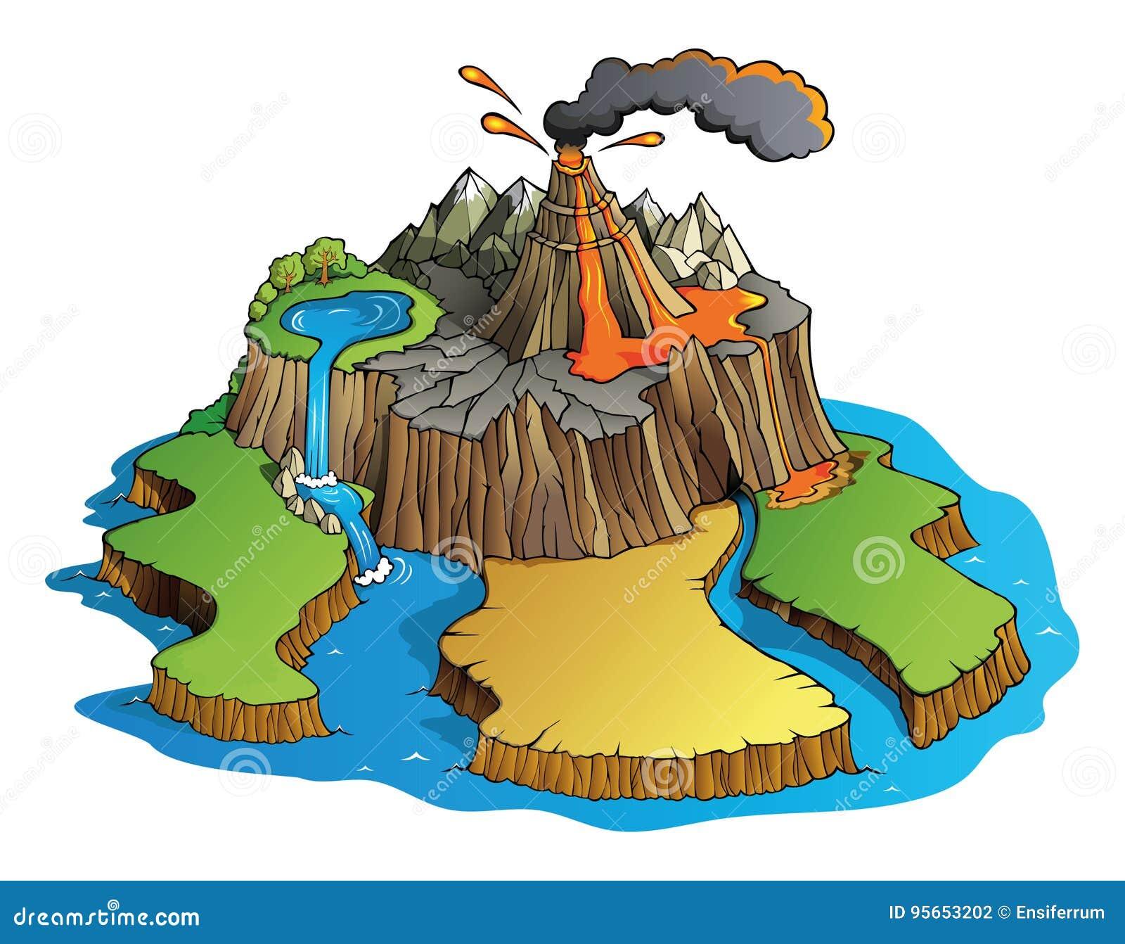 Wulkan wyspa