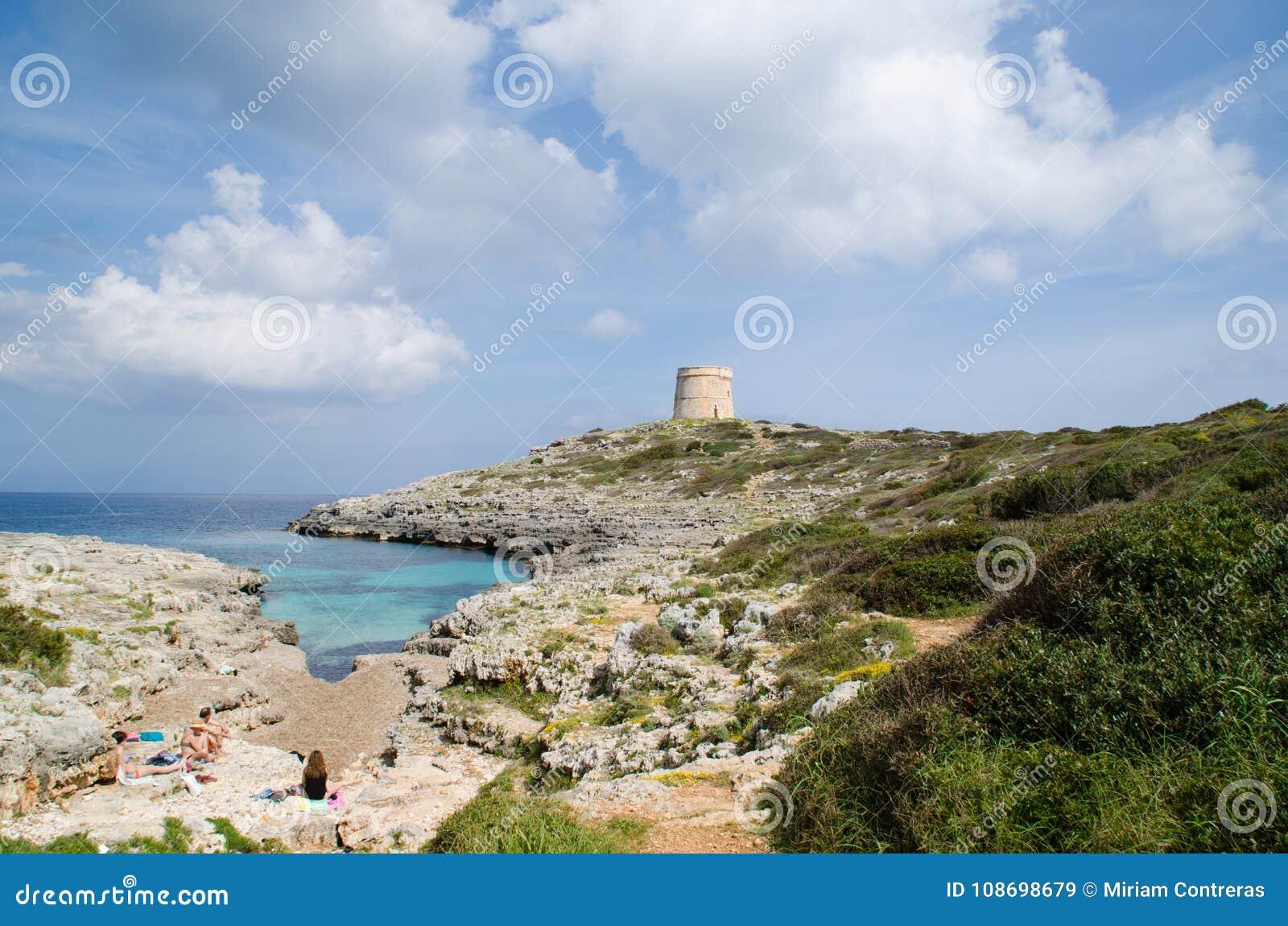 Wunderbare Landschaft in Alcaufar-Wachturm