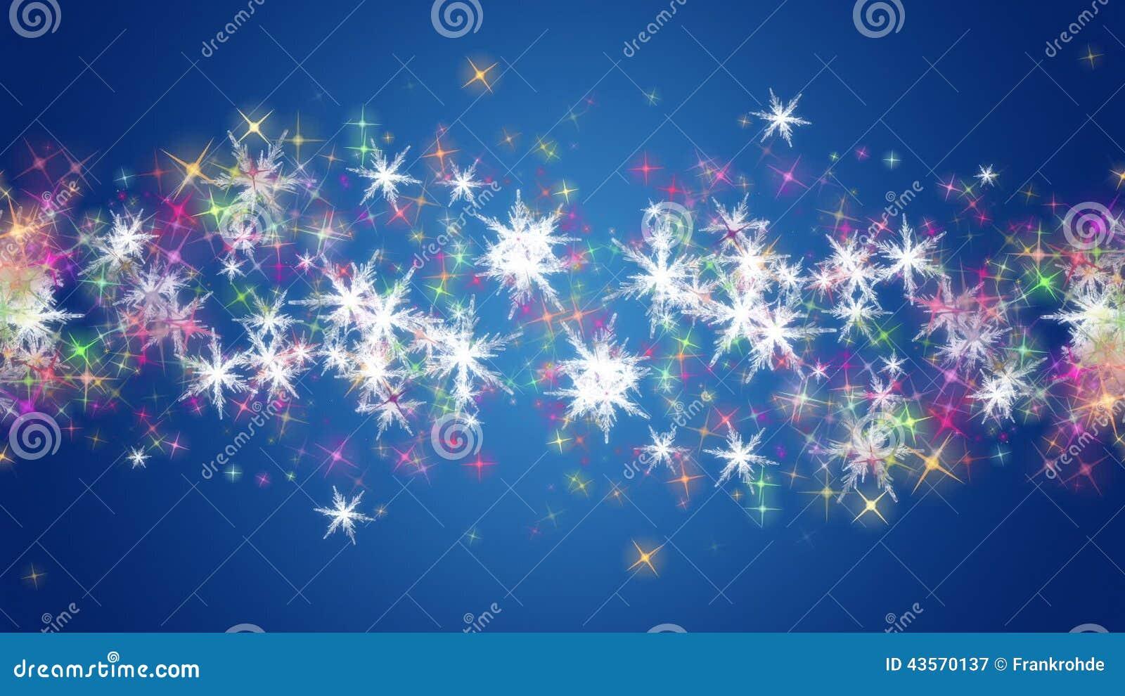 Wunderbare Weihnachtsanimation Mit Sternen Und Schneeflocken ...