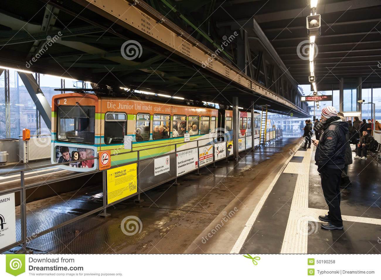 Wuppertal Suspension Railway Germany Editorial Stock Photo Image