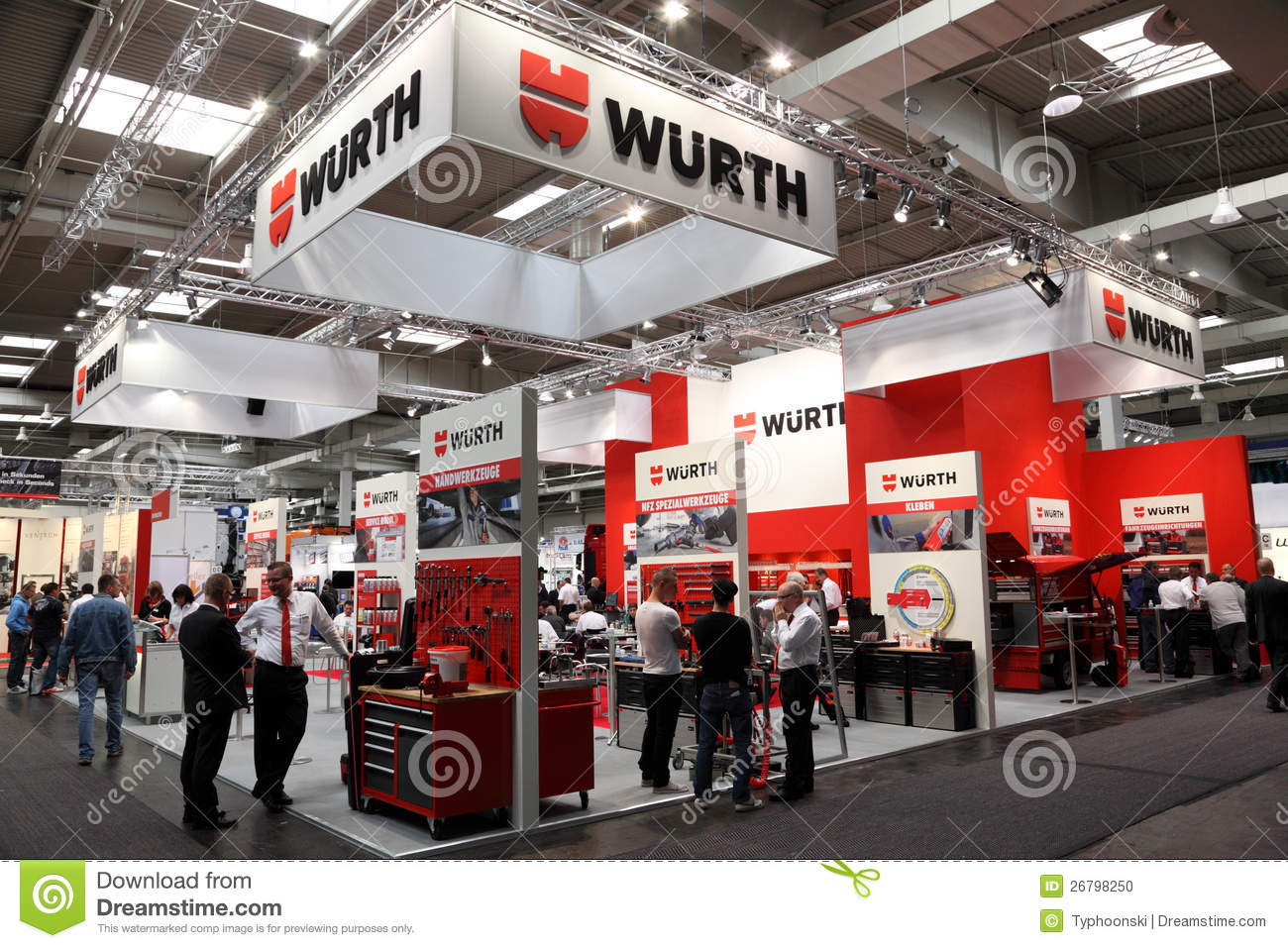 Exhibition Stand Vector Free Download : Wurth stand at the iaa editorial image of germany