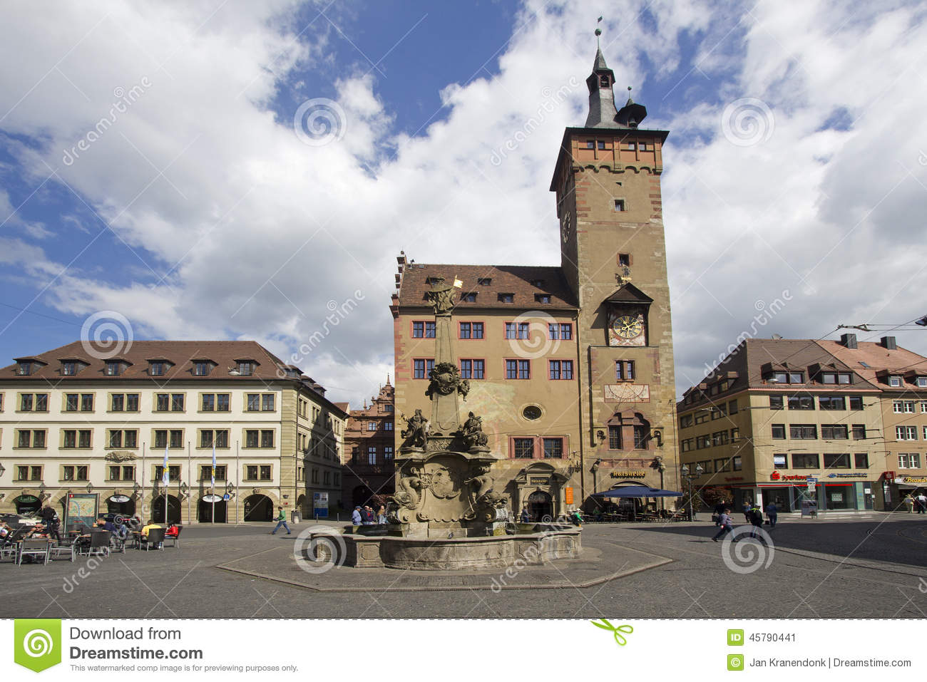 Wurzburg Germany  city photo : ... city hall rathaus of Wurzburg, in Wurzburg, Germany on May 4, 2014