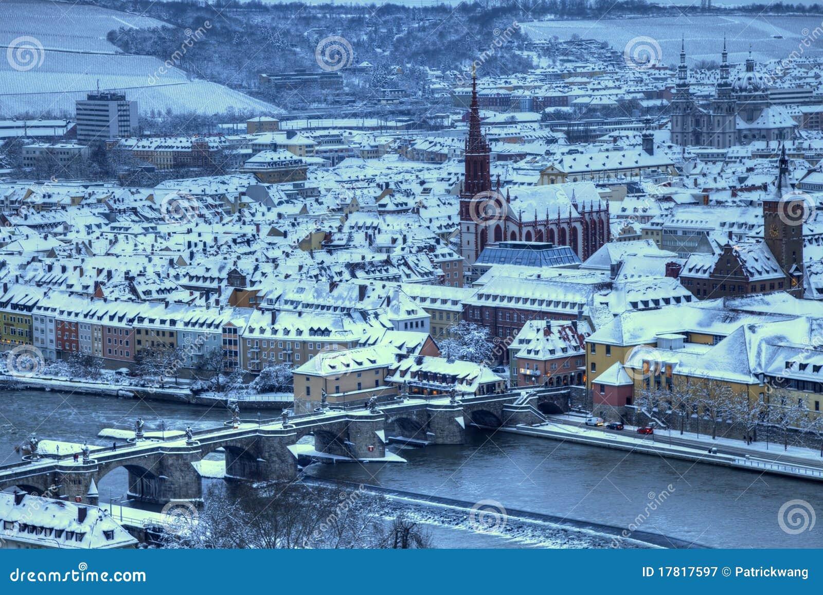 Wurzburg And Old Main Bridge Germany Royalty Free Stock Photography ...