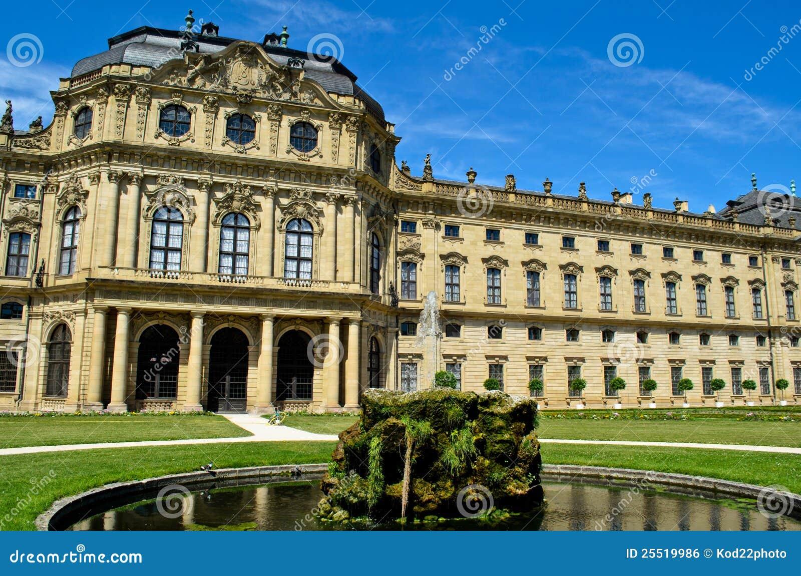 Wurzburg residence in germany royalty free stock image for Design hotel wurzburg