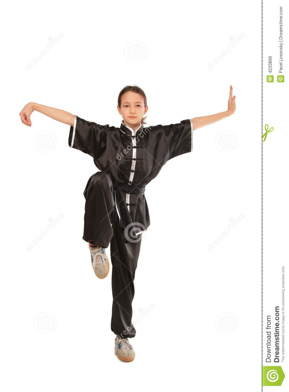 Wushu Girl Stance Royalty Free Stock Images Image 4233899