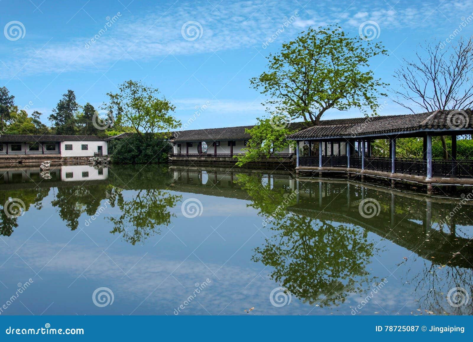 Wuxi Taihu Liyuan trädgårds- liten brostrandkant