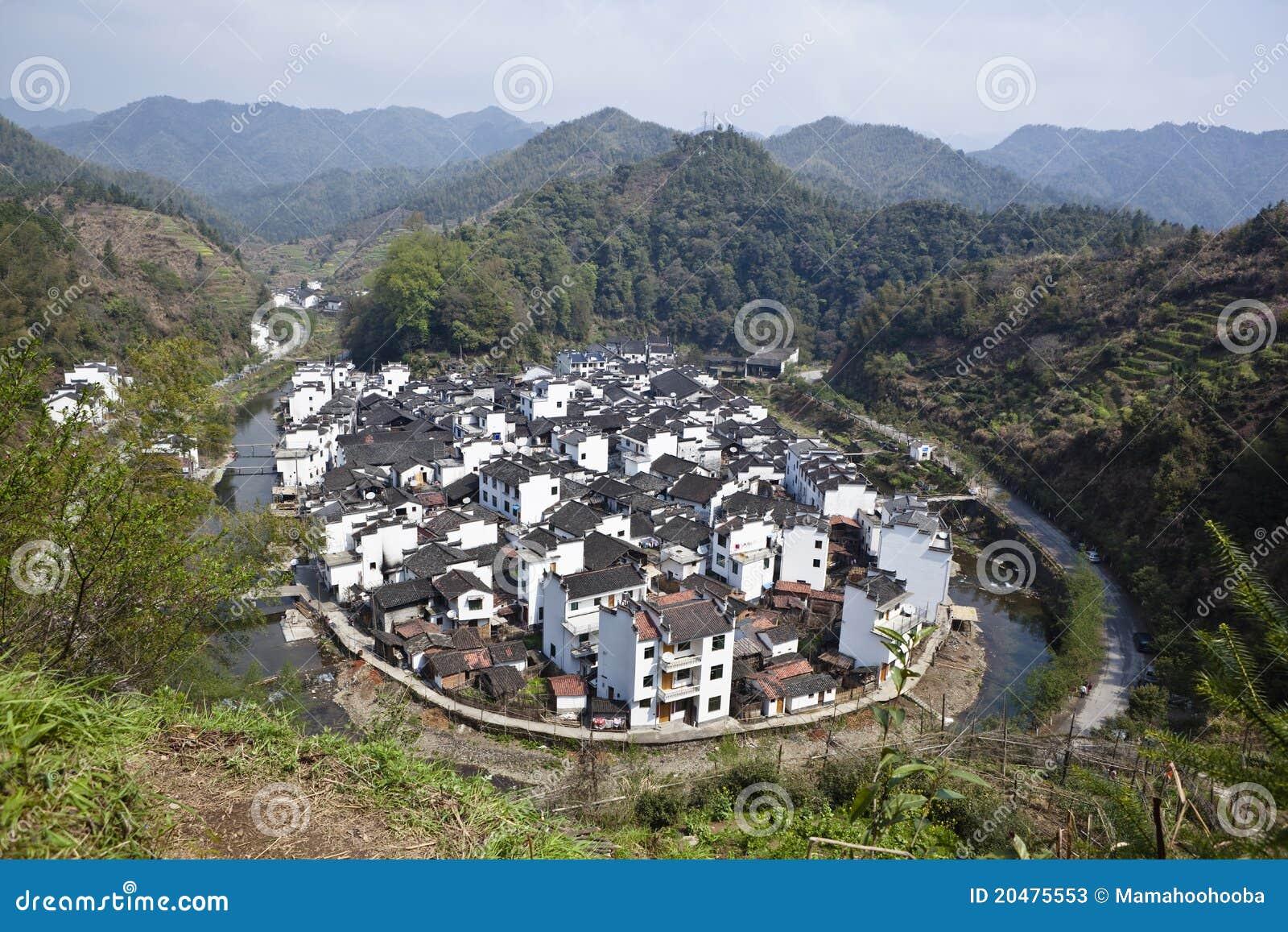 Wuyuan China  City pictures : Wuyuan, China: Jujing Village Stock Photos Image: 20475553
