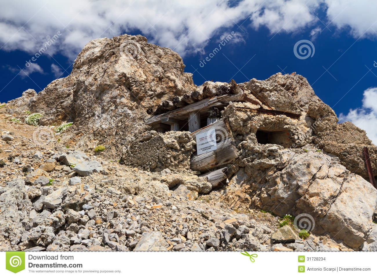 Ww1 Building In Dolomites Stock Images Image 31728234