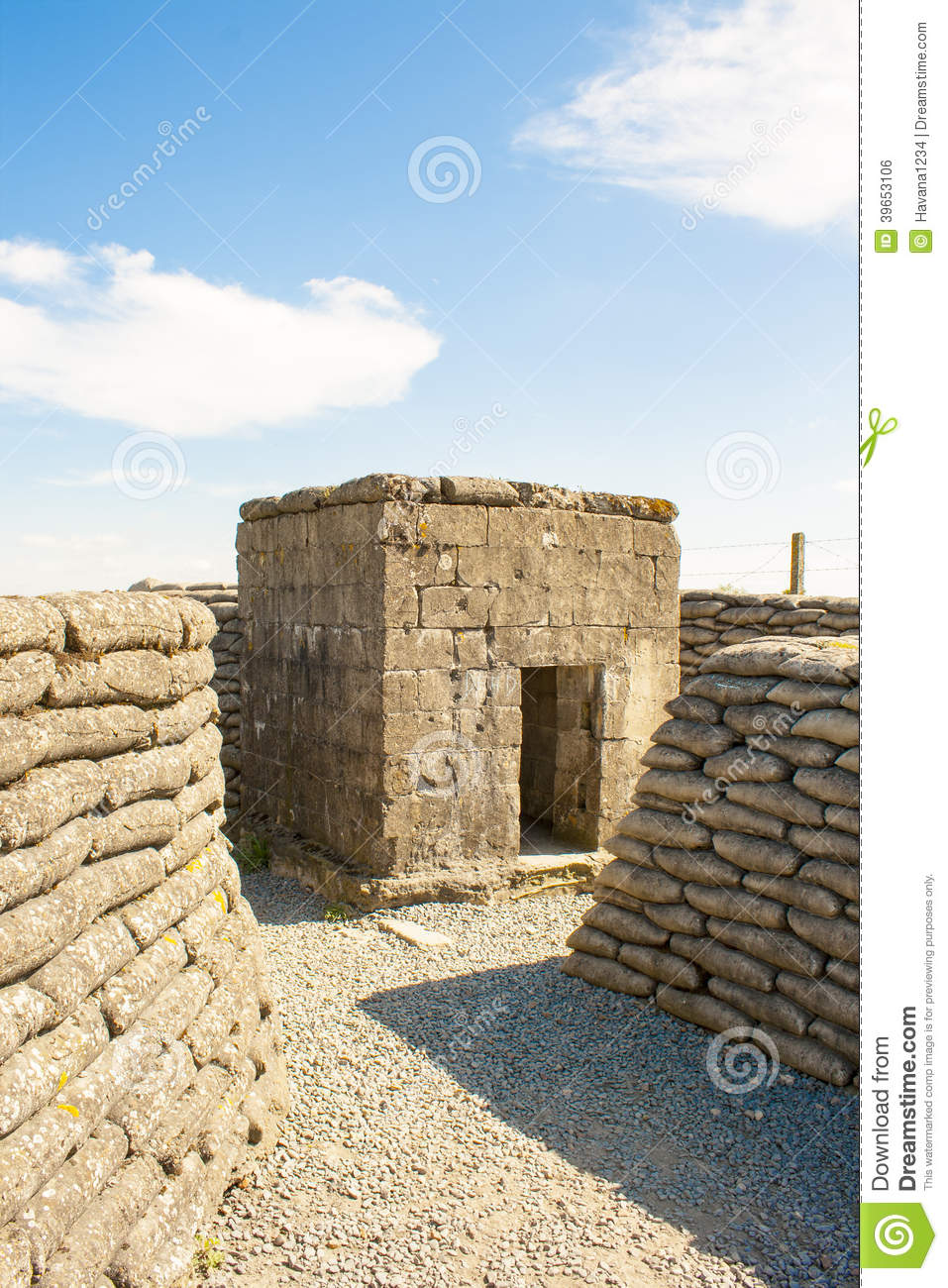 A WW1 Bunker in the trench of death Belgium world war.