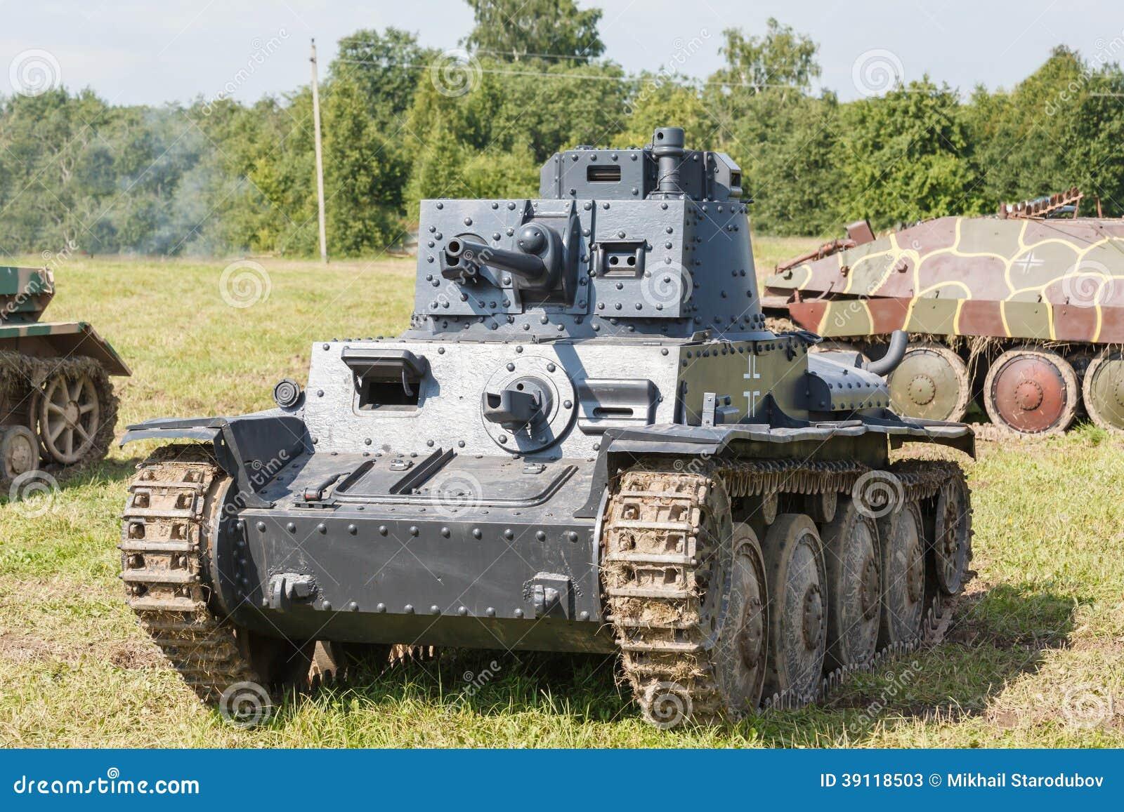 WW2 Duitse Panzer 38 (t) lichte tank